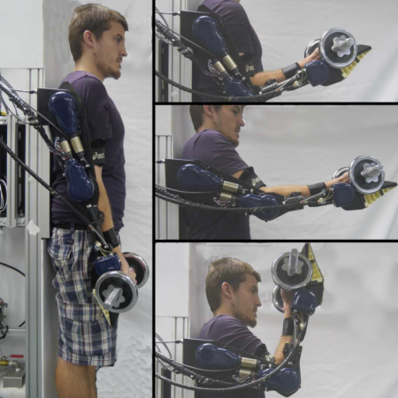 Power-augmentation control approach for arm exoskeleton based on human muscular manipulability