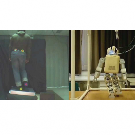 Robot Skill Synthesis Through Human Visuo-Motor Learning - Humanoid Robot Statically-stable Reaching and In-place Stepping