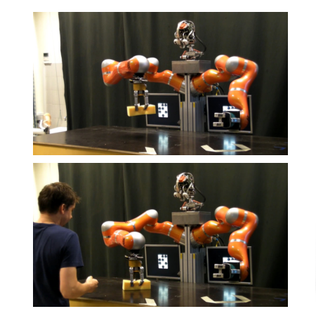 Learning and adaptation of periodic motion primitives based on force feedback and human coaching interaction