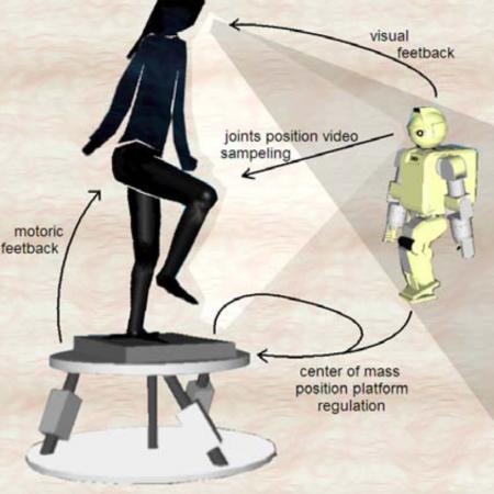 Improving balance regulation in visuo-motor control for humanoid robots