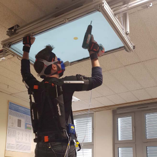 Objective and Subjective Effects of a Passive Exoskeleton on Overhead Work